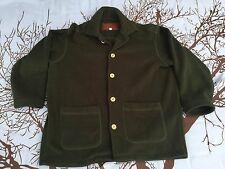 👖👕Mercedes-Benz Collection Men Fleece Jacket Size Large L Green Button Down👕