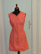 Pink sleeveless floral a-line dress size 10