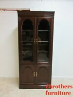 Ethan Allen Georgian Court Bookcase Display Curio Library Cabinet  225 A
