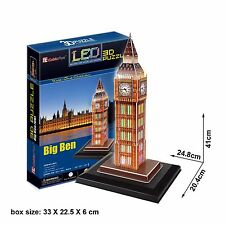 Cubic Fun L501H Big Ben London 3D Puzzle With Base & LED Lights