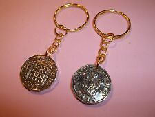 THREEPENNY BIT COIN KEY RING 1937 - 1967 PICK YOUR YEAR