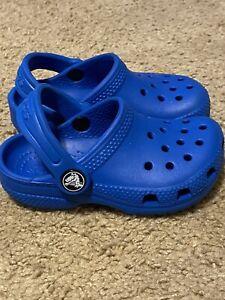 Toddler Crocs Navy Blue Boy or  Girl sz C 7