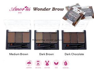 Amor us Wonder Brow Kit - Eyebrow Gel & Powder Kit, Vegan, Waterproof, Long Last