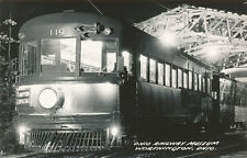 Worthington OH * Ohio Railway Museum RPPC Dayton Special Trolley 1940s