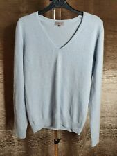 JOHN LEWIS WOMENS CASHMERE JUMPER SWEATER TOP BLUE SIZE 12 LONG SLEEVE