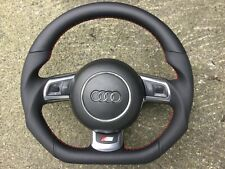 AUDI 8J0 TT TTS RS3 RS6 C6 R8 NEW CUSTOM MADE FLAT BOTTOM STEERING WHEEL