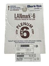 2x Lanmark-6 1000ft Plenum, Blue. 1 New/unused Box, 1 Box With 900 Ft Remaining
