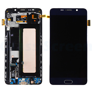 LCD Screen Digitizer Touch Frame Black for Samsung Galaxy Note 5 N920F OLED