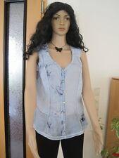 Biba Damen Bluse Gr. 0 XS 34  NEU mit Etikett Hell Blau Ladenpreis: 69,95 €
