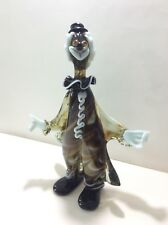 Large Vintage MURANO Multicolor Blown Glass Clown Italy Venetian 13 inches