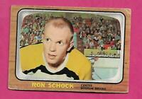 1966-67 TOPPS # 100 BRUINS RON SCHOCK CREASED  CARD (INV# C3111)