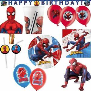 Spiderman Kindergeburtstag Party Deko Set kompostierbar Geburtstag Dekoration