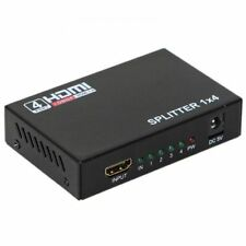 HDMI Splitter 1x4 Port Amplifier Repeater Full HD 3D 1080p Switch Box Hub