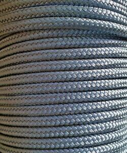 6MM Double Braided Rope Polyester Yacht Rope 30 Metres Black