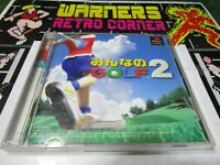 mina no golf 2 PlayStation 1 PSX PS1 Retro Game import japan ntsc j JAP