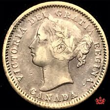 1870 Canada 10 Cents Narrow - VF - Lot#1566P