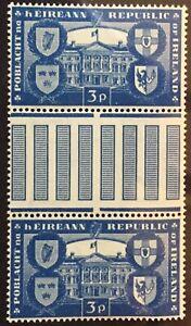 IRELAND 1949 REPUBLIC 3d GUTTER PAIR UNMOUNTED MINT SG 147