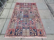Shabby Chic Worn Vintage Hand Made Traditional Pink Red Wool Rug  185x114cm