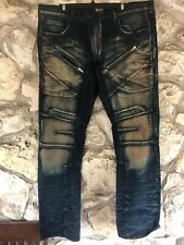 PRPS Barracuda Jeans 40 X 32 Zipper Bleached Denim Jeans
