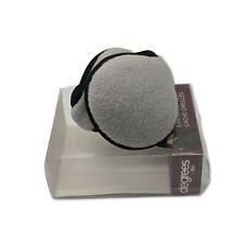 Ear Muffs Winter Cold Knit Fleece Light Heather Grey Unisex Warming 180s