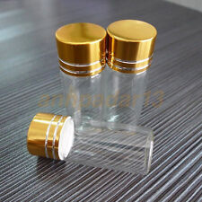 HOT 50pcs 22x50mm New Small Empty Clear 10ml Bottles Glass Vials With Screw Cap