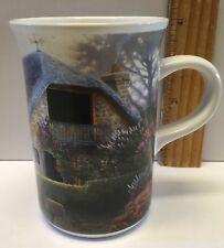 Thomas Kinkade Lilac Cottage 8oz Mug Heat Activated Morphing Windows Lights 2004