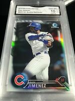 ELOY JIMENEZ CUBS WHITE SOX 2016 BOWMAN CHROME REFRACTOR RC #BDC191 GRADED 10 💎