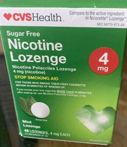 New Sealed CVS HEALTH NICOTINE LOZENGE MINT 48 LOZENGE 4 MG Exp 9/21