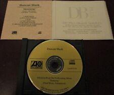 DUNCAN SHEIK - SELECTIONS FROM HUMMING (FINAL MIXES, UNMASTERED) CD PROMO