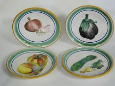 4 pcs ITALIAN SIGNED CERAMIC DE VIETRI SANTORIELLO HAND PAINTED VEGETABLE PLATE