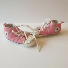 All Star Converse Baby Pink First Shoes Crib Infant UK 4 Great Condition