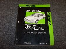 1993 Toyota Camry Shop Service Repair Manual Vol3 DX LE SE XLE 2.2L 3.0L V6