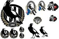 Stickers - Collingwood Magpies - AFL- Book, Lunch Box, School, Birthday