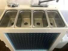 Used Portable Concession Sink 3 Compartment Sink Hot Water 120v Electric