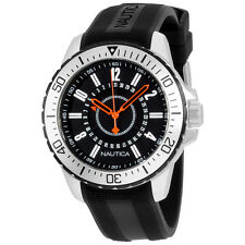 Nautica Black Dial Black Silicone Strap Men's Watch N14661G