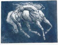 Robert Freeman, b.1939 noted Nat. Am artist, pencil signed etching