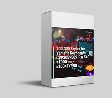 200,000 Styles for Yamaha Keyboards CVP305>509  Psr 540 >1000 psr-a100>TYROS