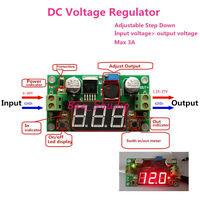DC-DC Buck Step down Adjustable Voltage Regulator 4-40V To 1.25-37V 3A Converter