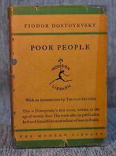 Poor People Dostoyevsky Modern Library Toledano Style 5.1 1929-1930 in Jacket
