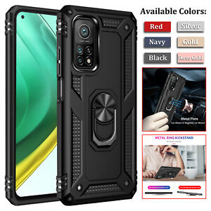 For Xiaomi Mi 10T Pro / Lite 5G Shockproof Armor Magnetic Ring Holder Case Cover