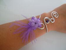 Bracelet Mauve/Parme/Violet original p robe de Mariée/Mariage/Soirée pas cher