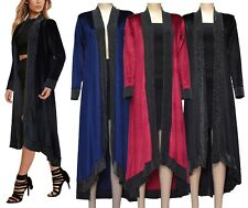 Velvet Open Front Cardigan Wrap Thick Waterfall Jacket Cape Coat Cover Up Kimono