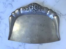 ANTIQUE 800 SILVER GERMAN ORNATE REPOUSSE CRUMB TRAY