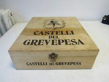 CASSA/CASSETTA IN LEGNO  VINO CASTELLI DEL GREVEPESA - VINTAGE
