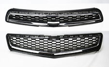 Honeycomb Mesh Chrome Front Bumper Upper & Lower Grille for Chevy Malibu 2013