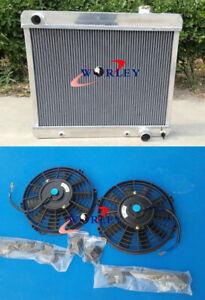 Aluminum Radiator+fan for 1963-66 Chevy Panel Truck C10/C20/C30 PONTIAC OLDS CAR