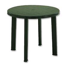 Tavoli da esterno verde in resina fino a 6