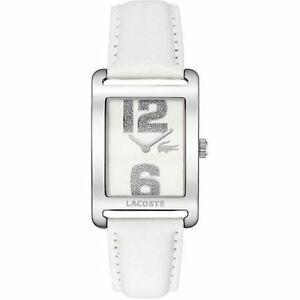 Lacoste 2000651 Andorra White Dial White Leather Band Watch