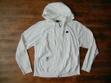 LIFTED RESEARCH GROUP LRG Off-White Cotton ZIP HOODIE Sweatshirt Jacket Sz Men L