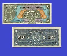 Panama banknotes 5 Balboas 1941. UNC - Reproductions